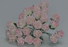 11mm LIGHT ROSY PINK CARNATION dianthus BUDS Mulberry Paper Flowers